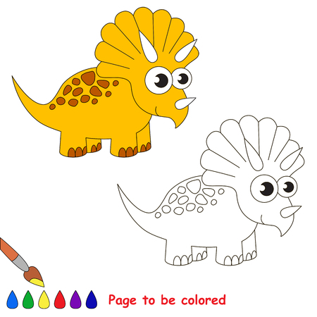 triceratops: Triceratops to be colored. Coloring book for children. Visual game.