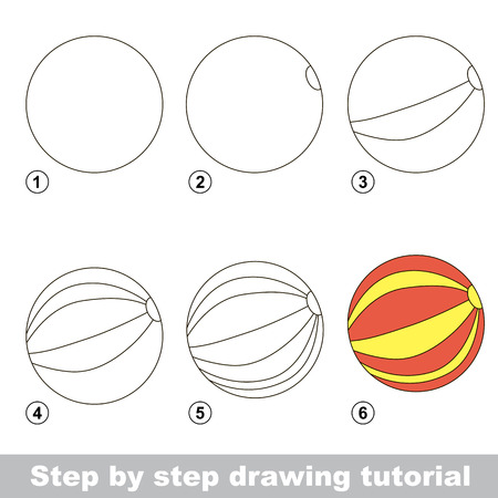 Drawing tutorial for children. How to draw the funny Ball