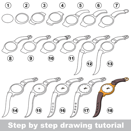 Drawing tutorial for children. How to draw the funny Watch