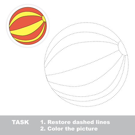 dashed line: Ball in vector to be traced. Restore dashed line and color the picture.