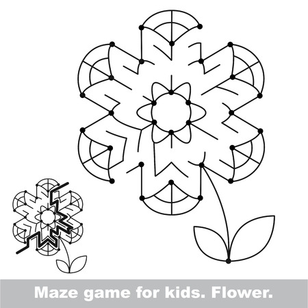 Summer maze game. Search the way. Help to fihd the solution. Kid labyrinth game. Colorless version. Ilustração