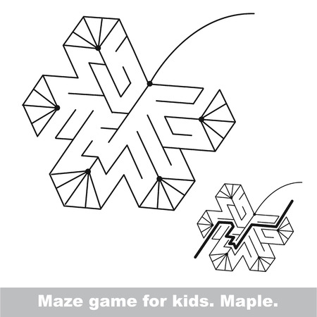 Autumn Maze Game Search The Way Help To Fihd The Solution
