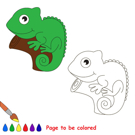 i kids: Iguana to be colored. Coloring book for children. Visual game. Illustration