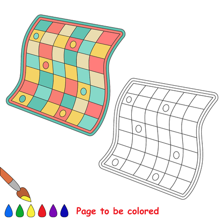 quilt: Quilt to be colored. Coloring book for children. Visual game. Illustration