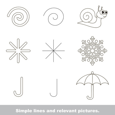 relevant: Simple lines are illustrated by relevant pictures.  The colorless version.