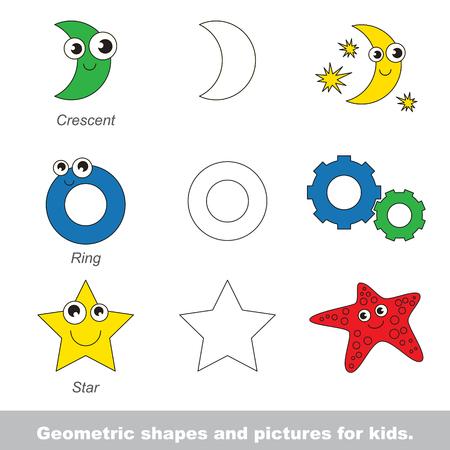 Formas Geométricas Simples Para Niños Ilustrados Por Imágenes ...