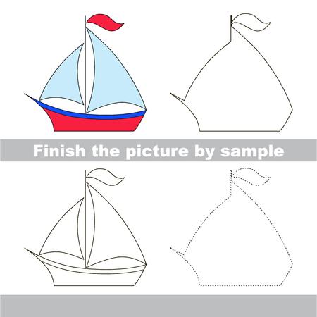 Hoja De Trabajo De Dibujo Para Niños. Termina La Foto Y Dibuja El ...