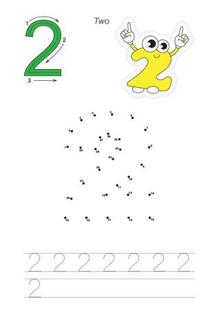 Vector Übung Dargestellt Alphabet. Lernen Handschrift. Seite ...