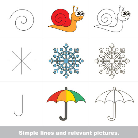 relevant: Simple lines are illustrated by relevant pictures.