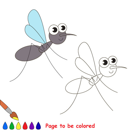 The gnut to be colored. Coloring book for children. Visual game. Illustration