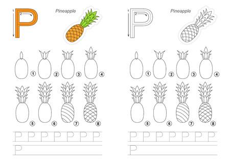 Vecteur Complet Illustré Alphabet Avec Jeux D Enfants Apprenez L écriture éducatif Facile Jeu D Enfant Niveau Simple De Difficulté Gaming Et De