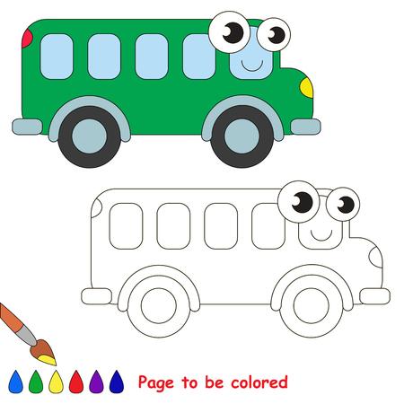 Carro Rojo A Ser De Color. Libro De Colorante Para Educar A Los ...
