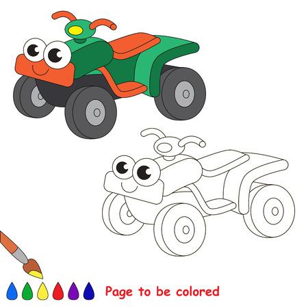 Cohete Azul Para Colorear. Libro De Colorante Para Educar A Los ...