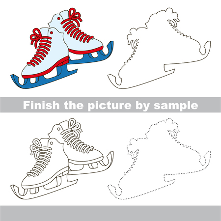 Drawing worksheet for children. Finish the picture and draw the cute Skates