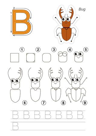Vectorial Completa Ilustra Alfabeto Con Juegos Para Niños. Aprender ...