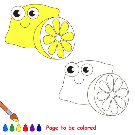 Cartoon Limón Para Colorear. Libro Para Colorear Para Los Niños ...