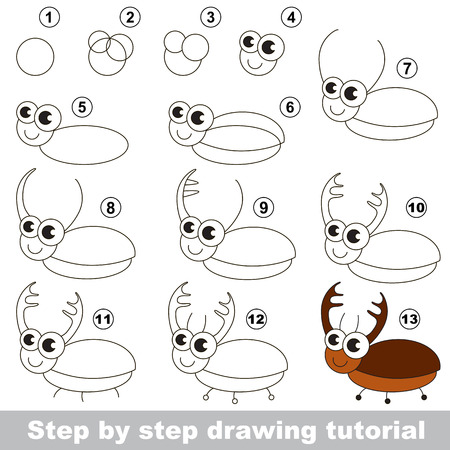Illustration Of Wasp Cartoon For Kids Drawing Or An Outline For ...