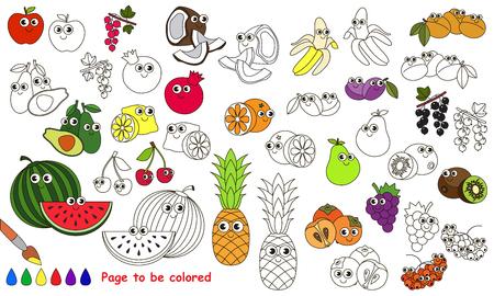 Apple Para Ser Coloreado. Libro De Colorante Para Educar A Los Niños ...