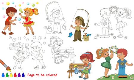 Niñas Monas A Ser De Color. Libro De Colorante Para Educar A Los ...