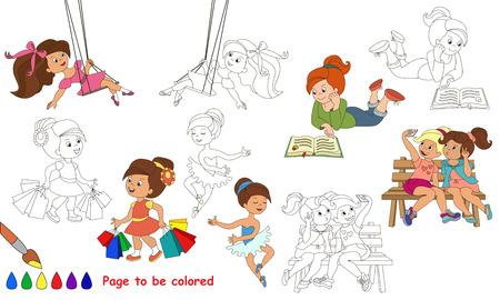 Juegos De Verano Del Cabrito A Ser De Color. Libro De Colorante Para ...