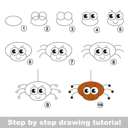 Tutorial De Dibujo Para Los Niños. Fácil Juego De Niños Educativo ...