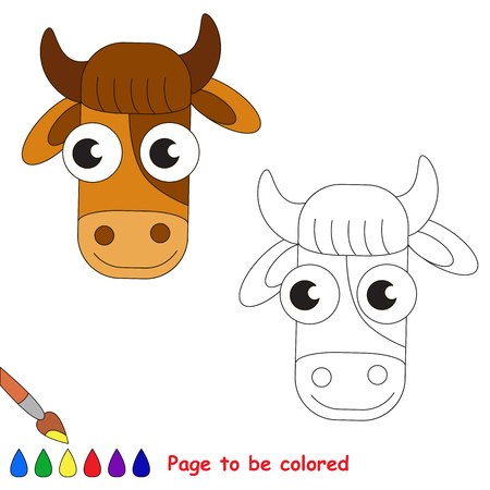 page to be colored simple education game for kids vector - Simple Pictures To Trace