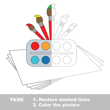 joining the dots: Vector trace educational game for preschool kids. Illustration