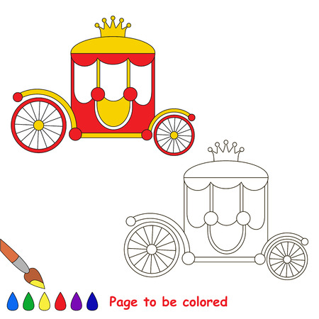 Page to be colored, simple education game for kids. Illustration
