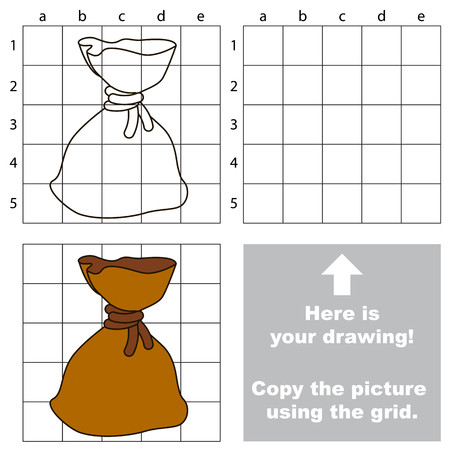 bagful: Copy the image using grid, the simple educational kid game.