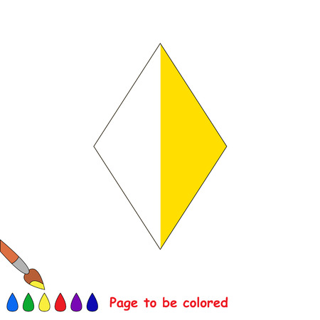 colorless: Kid game to be colored by example half. Illustration