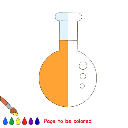 test tube babies: Kid game to be colored by example half. Illustration