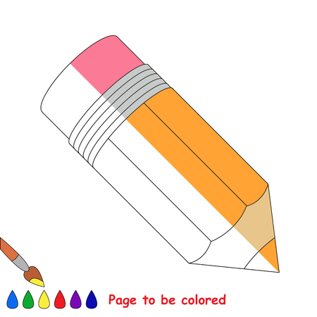 Kid game to be colored by example half. Illustration