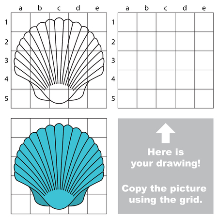 cockleshell: Copy the image using grid, the simple educational kid game.