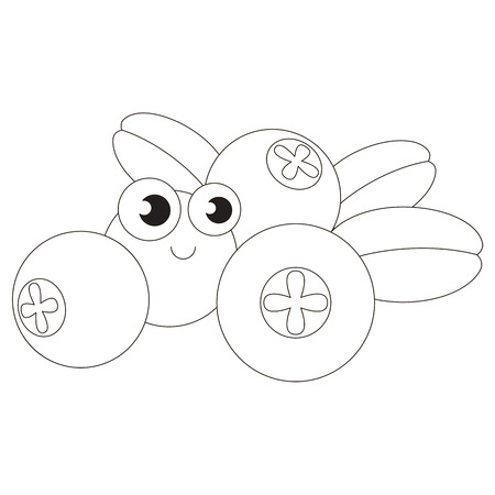 cowberry: Cartoon outlined object.