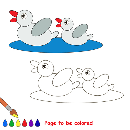 primeval: Page to be colored, simple education game for kids. Illustration
