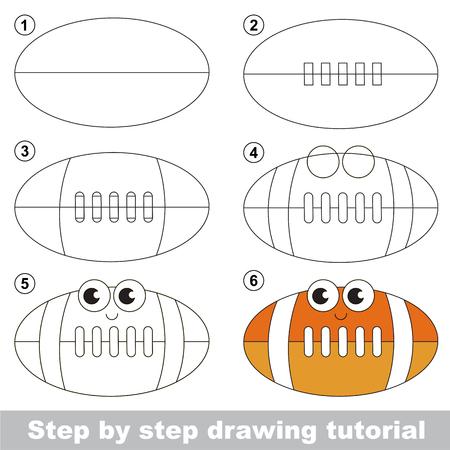 Drawing tutorial for preschool children. Illustration