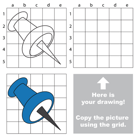 tack: Copy the image using grid, the simple educational kid game.