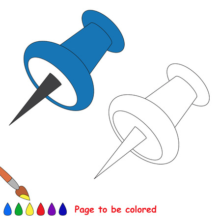 attachment: Page to be colored, simple education game for kids. Illustration