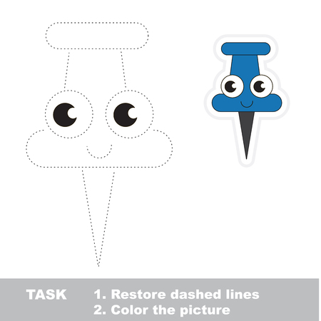 tack: Vector trace educational game for preschool kids. Illustration