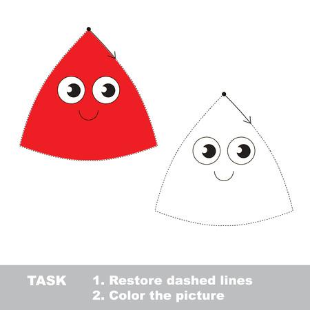 Vector trace educational game for preschool kids. Illustration