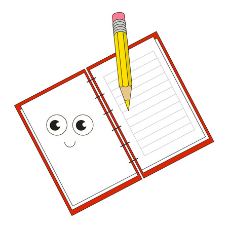 Copybook cartoon. Outlined object with black stroke.