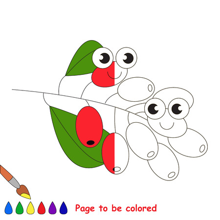Barberry to be colored, the coloring book to educate preschool kids with easy kid educational gaming and primary education of simple game level. Stock Photo