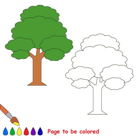 Rbol De La Hoja Para Colorear, El Libro Para Colorear Para Educar A ...