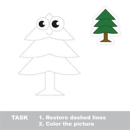 Fur Tree En El Vector Que Se Debe Rastrear, Restaura La Línea ...