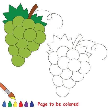 Hoja De Trabajo Educativa Para Ser Coloreado Por Muestra. Fácil ...