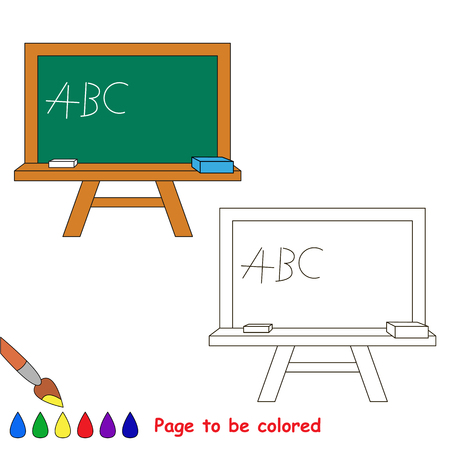 Green Board To Be Colored, The Coloring Book To Educate Preschool ...