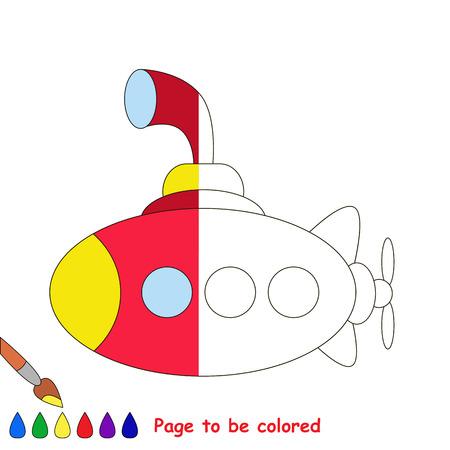 Submarino Para Colorear, El Libro De Colorear Para Educar A Los ...