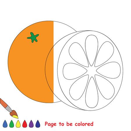 Naranja Para Colorear, El Libro Para Colorear Para Educar A Los ...