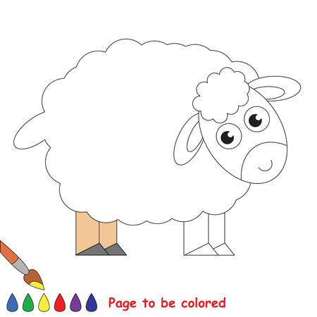 Oveja Linda Para Colorear, El Libro Para Colorear Para Educar A Los ...