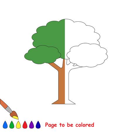 Divertido árbol De Hojas Verdes Para Colorear, El Libro Para ...